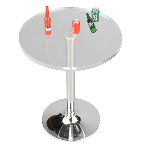 MagiDeal 1/6 Runde Tisch mit Bierflaschen Möbel Set Für 12'' Action Figur (Pub-tische Und Stühle-sets)