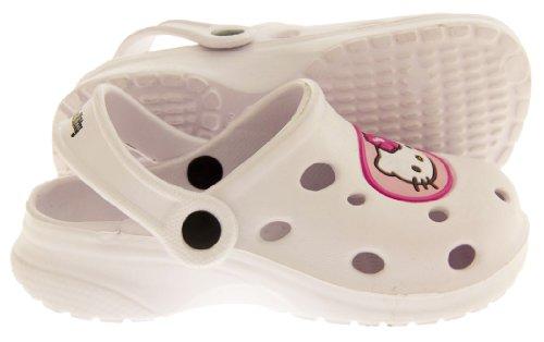 Hello Kitty Hellosabo Plage Sabot Mule Sandales Filles Blanc