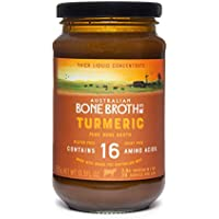 Australian Beef Bone Broth Concentrate -Turmeric Twist flavour - Turmeric, Ginger, Black Pepper, Collagen Peptides-Support Immune + Gut System - Made in Australia 395 grams