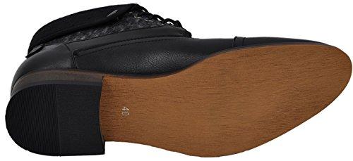 brogue boots bottines à lacets à intérieur cuir brogue1 noir 3101