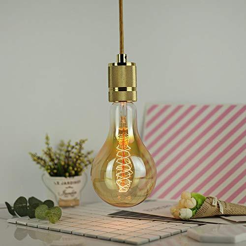 Y-XM 2 * E27 Edison Faden Birne Jahrgang Wolfram Glühbirne 40W 220V 10 * 20 cm Bernstein Glas Antiquität Lampe -