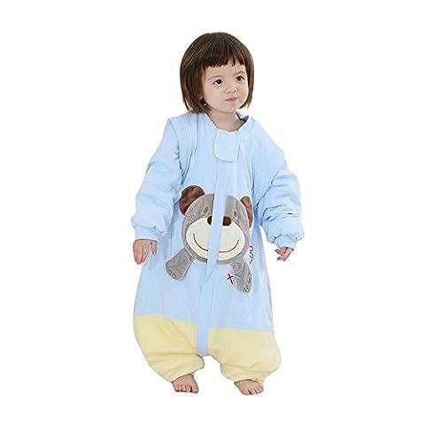 babySchlafsack langarm mit Füßen kinder winterSchlafsack pyjama , Bär babyoverall