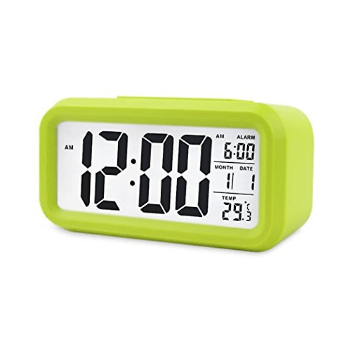Digital Night Sensor Despertador LED Snooze Button Despertador - Iluminación Viaje Activa Sensor...