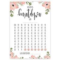 Hochzeits-Countdown, Bloomy, 100 Tage, Hochzeit Kalender, Verlobungsgeschenk, Tage bis Hochzeit, Geschenk für Brautpaar