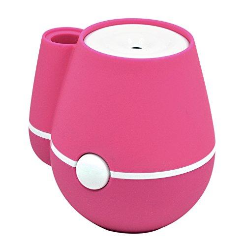 Mini Florero Humidificador Aire Fresco Portable Mist humidificadores con operación Mute USB para Oficina en casa habitación Dormitorio Rosa