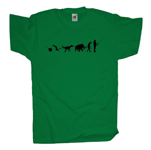 Ma2ca - 500 Mio Years - Angler Angelroute T-Shirt Kelly