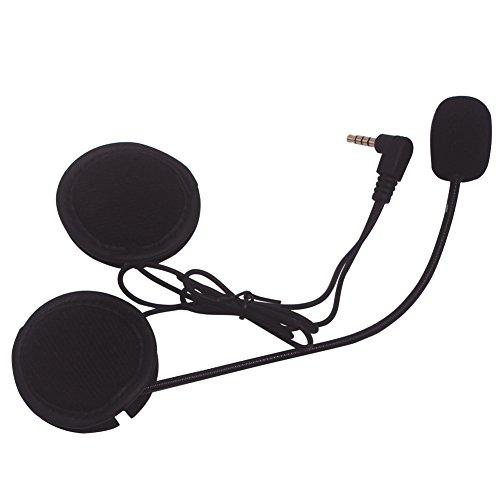 Helm-Kopfhörer, Evary 3.5MM Mikrofon-Lautsprecher für Bluetooth V6 Sprechwasserdichte Motorrad-Motorrad-Sturzhelm