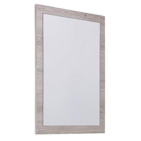 Cribel Oasis Miroir Bois Blanc/Chêne Naturel 60 X 80 X 1,9 cm