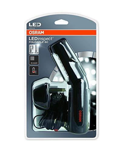 OSRAM LEDinspect HOME FOLDABLE 80, lampada da ispezione e da officina a LED ricaricabili, lampada da lavoro con batterie ricaricabili, LEDIL201, in particolare per lavori su veicoli nei garage, scatola di cartone (1 pezzo)