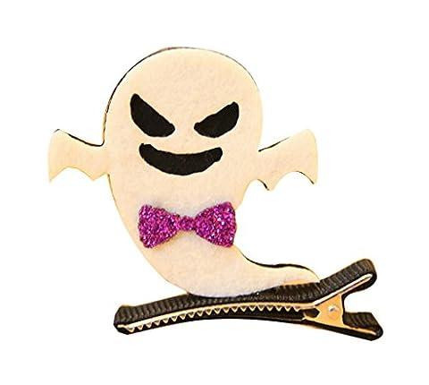 COMVIP Barrettes Cheveux Fille Halloween Déguisement Enfant Bijoux Accessoire Ornement Mignon Blanc