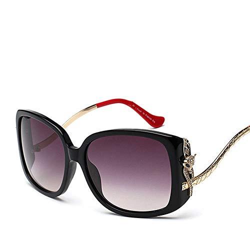 Polarisierte Sonnenbrille, Mode High-Ended Fox Head Sonnenbrille für Frauen Sonnenbrillen Accessoires (Farbe : Black/red)