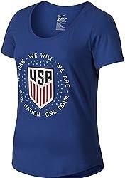 Nike Womens United States Pride Soccer T-Shirt (Medium) Blue