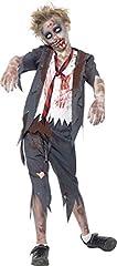Idea Regalo - Smiffys Costume Zombie Scolaro, comprende Pantaloni, Giacca, Camicia Finta e Cravatta