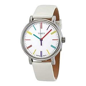 Timex – Reloj de Cuarzo para Mujer, Correa de Cuero