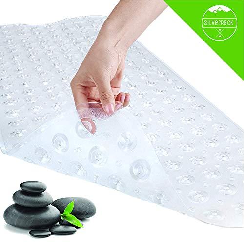 SilverRack SOMMERAKTION Antirutschmatte Badewanne 100x40cm - Premium Badewannenmatte für sicheres Baden und Duschen - BPA & latexfreie Badematte für Kinder für einen besseren Halt in der Wanne