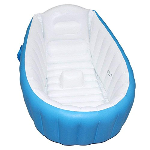 Portable Indoor Outdoor Baby Swimming Pool Air Cushion Children Inflatable Bathtub Round Basin Summer Water Pool Toys Neither Too Hard Nor Too Soft Swimming Pool