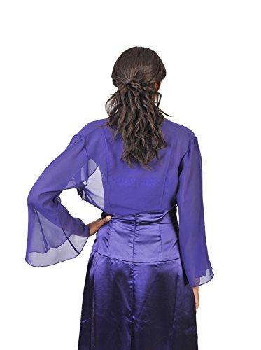 Astrapahl Damen Bolero Jacke mit Trompetenärmeln Lavendel