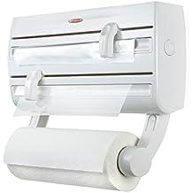 Leifheit Parat F2 blanco - Portarrollos de pared de plástico, 38x18x7 cm, color blanco
