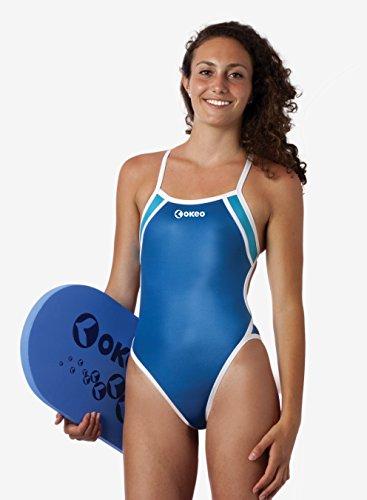 e512b395dea2 Okeo -GARONNA- Costume intero donna per piscina; SLIM FIT - Okeo ...