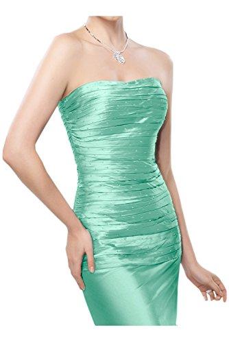 Gorgeous Bride Hochwertig Traegerlos Etui Lang Taft Spitze Mit Bolero Abendkleid Brautmutterkleider Ballkleid Style B-Hellgruen