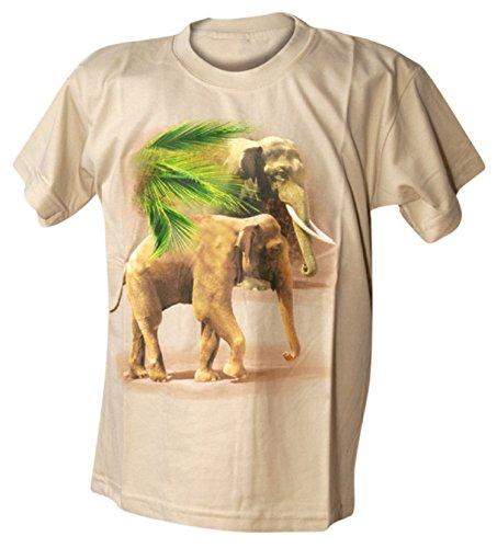Bushfire Kinder T-Shirt Walking Elefant beige Beige