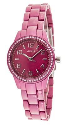 Guess W80074L1 de cuarzo para mujer con correa de aluminio, color rosa