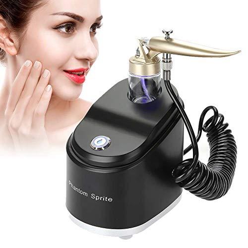 Spray Maschine für Gesichtspflege, Mikro nano Gesichtsdampfer Sauerstoff Sprüher Schönheit Gerät, Airbrush Kompressor für Feuchtigkeits- und Reinigungsporen, Falten Entferner(Schwarz)