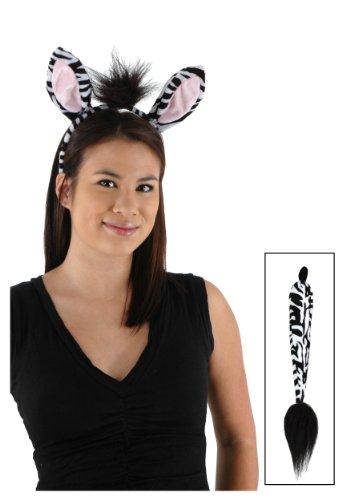 Elope Kids 218014 Zebra Ohren und Schwanz Kit ()