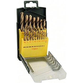 Bosch 2607019925 Foret /à m/étaux rectifi/é au cobalt HSS-Co Robust Line DIN 338 /Ø 1//2//3//4//5//6//7//8//9//10 mm 10 pi/èces