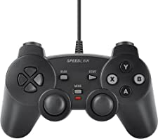 Speedlink SL-6537-BK Strike FX - Mando de videojuegos con cable USB para PC, color negro