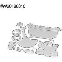 Plantillas de corte P12cheng, troqueles de corte de metal con forma de osito para tina