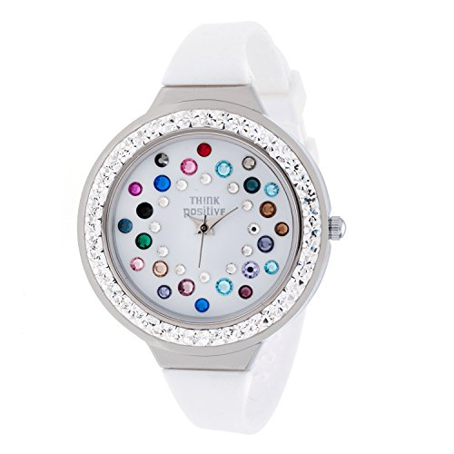ladies-think-positive-model-se-w116a-star-dust-tunnel-medium-steel-strap-silicone-color-mix-white