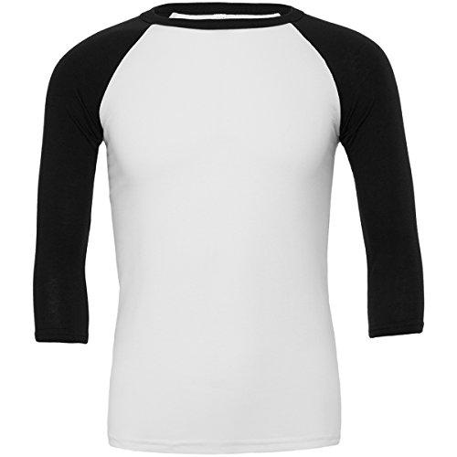 Bella+Canvas Triblend ¾ Sleeve Baseball t-Shirt White/Black S