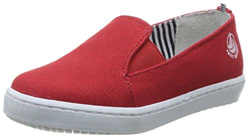 Petite Leinen (Petit Bateau Loon, Damen Sneaker  Rot rot 30)