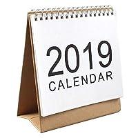 Coogel Desk calendar,July 2018 - December 2019 Easy Flip Week View Desktop Top Standing for Office Family Plan Calendar