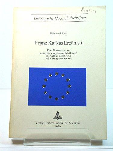 Franz Kafkas ErzAhlstil