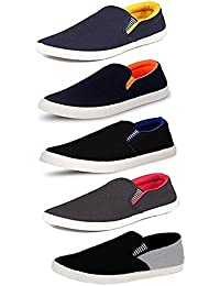 Tempo Men's Combo Pack of 5 Multicolor Loafers & Moccasins