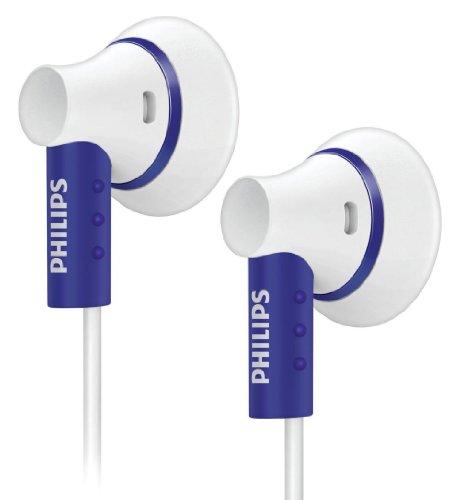 Philips SHE3000PP/10 Écouteurs intra-auriculaires 16 ohm Blanc et violet avec basses améliorées et Flexi-Grip