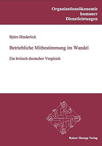Betriebliche Mitbestimmung im Wandel: Ein britisch-deutscher Vergleich (Organisationsökonomie humaner Dienstleistungen)