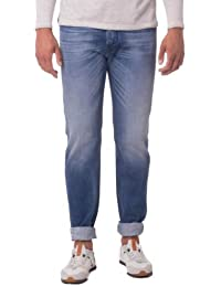 Diesel Men's Iakop 0826A Faded Regular Slim-Tapered Fit Jean
