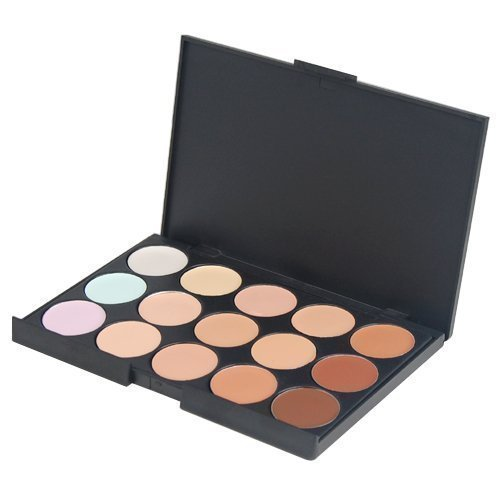 Accessotech 15 Couleur Pur Cache-cernes Camouflage Palette Maquillage Fard À Paupières Bronzage Set Ensemble