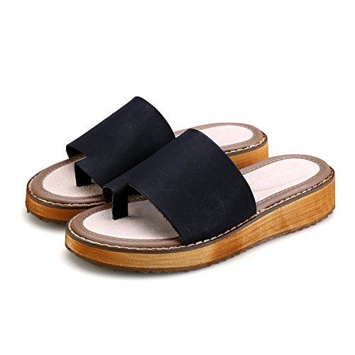 Infradito Sandali Smilun Neri Eleganti Infradito Pantofole Donna Infradito TTWw6Uq1