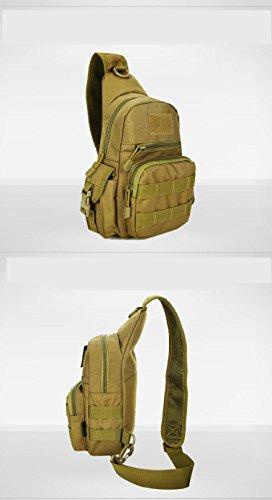 F@Sport indoor femminile impermeabile sacchetti di nylon, escursionismo sacchetti, sacchetti di Digital Camo, borse a spalla, borse tattiche militari appassionati, sacchi da campeggio , black Khaki
