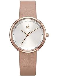 1243f371af02 Shengke - Reloj de Pulsera Minimalista para Mujer
