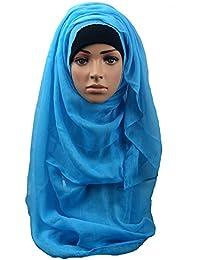 7a3d99a99c9 Dinglong grosses soldes Musulman Femmes Hijab Diamants Écharpe À Capuchon  Wraps Instantanés Bandanas Cap Sous-