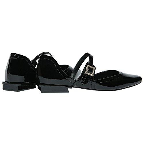 ENMAYER Femmes Chaussures Automne De Printemps Pour Femme Chaussures Chaussures En Talons En Forme De Talon Noir#2