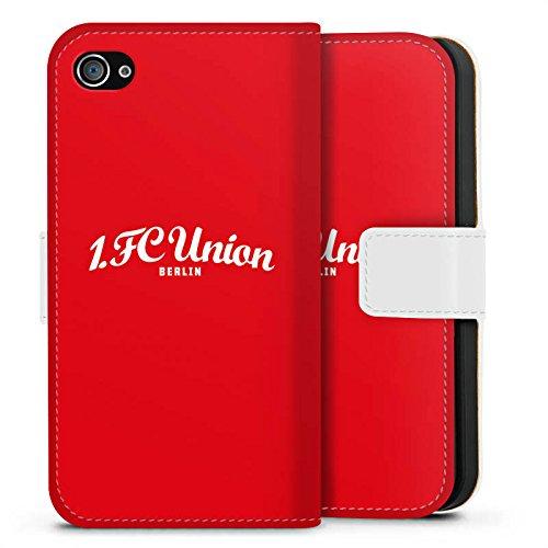 Apple iPhone X Silikon Hülle Case Schutzhülle 1. FC Union Berlin Fanartikel Fußball Sideflip Tasche weiß