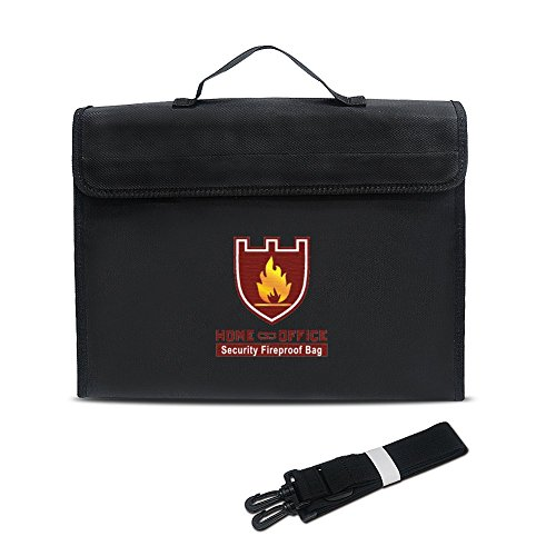 Home & Office Sicherheit Feuer und Wasser Proof Tasche Safety Bag Safe Guard tragbar Schutz Tasche 7,5* 28* 38cm (Feuerfest-datei Sicher)