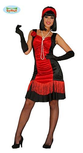 (Rotes Charleston Kleid Karneval 20er Jahre Motto Party Kostüm für Damen Gr. M-XL, Größe:L)