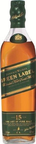 Label Walker Johnnie Green (Johnnie Walker Green Label 15 Jahre - 0,2 Liter)
